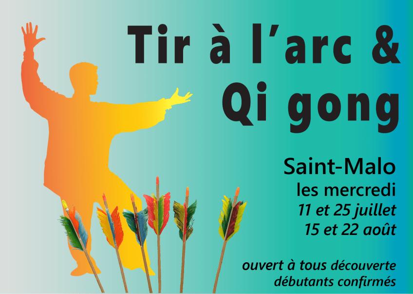 """Pause """"Tir à l'arc & Qi gong""""  – Saint-Malo – été 2018"""