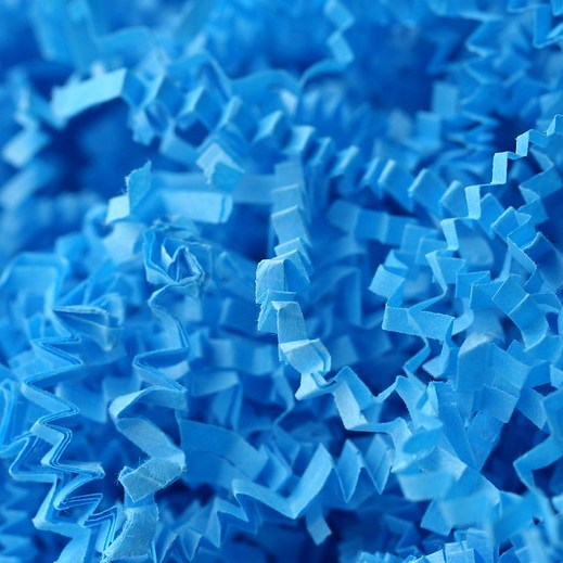 Bright blue image of paper shreddings