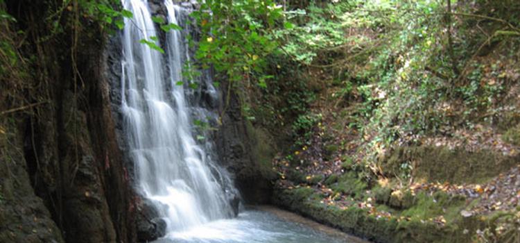 27 ottobre . La cascata ed il vecchio Mulino a Magliano Romano