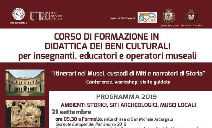 21 settembre- Didattica dei beni culturali