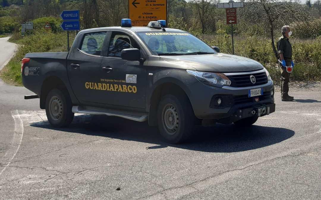 Controlli dei guardiaparco nel territorio dell'area protetta