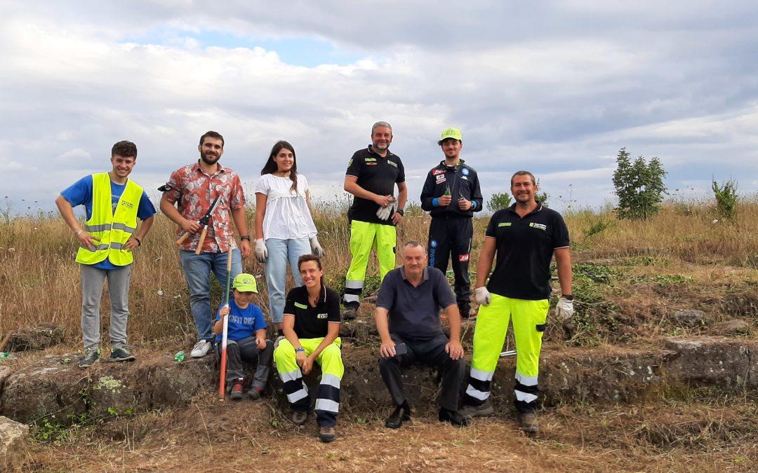 """ll """"Cardo e Decumano"""" di Campetti tornano alla luce grazie al Parco e ai volontari di San Lazzaro"""