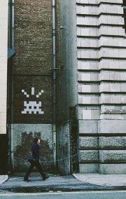 Le street artiste Invader - New York