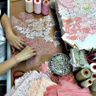 Broderie, atelier Monique Lhuillier - Photo Pinterest