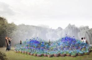 """""""Fleur bleue"""", 2015 - Festival des Jardins de Chaumont - Photo site"""