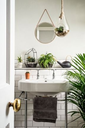 Plantes en salle de bain - Photo Pinterest