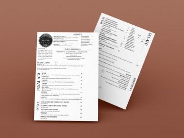 Carte du restaurant Le Comptoir Italien, réalisée par l'agence digitale Pardalys.