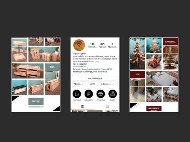 Présentation de la page instagram Triple-D.
