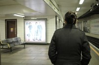 André registrando nossa passagem pelo metrô ^_^