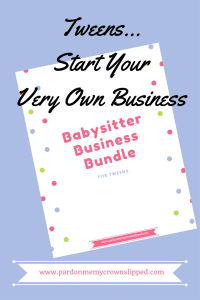 babysitter business bundle #teenjobsideas #tweenjobsmakemoney