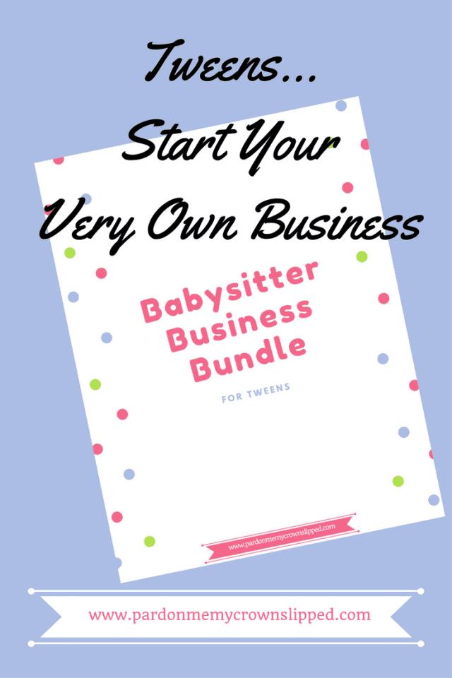 babysitter business bundle  #teenjobsideas #tweenjobsmakemoney