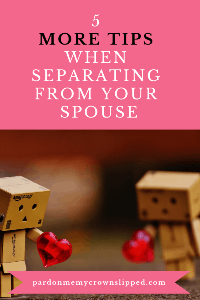 Use these practical tips when separating from your spouse. This advice will help put you on on solid footing at such a difficult time. #divorce #separation
