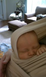 snug as a bug in a moby :)