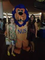 """Day 17 - Meeting """"LiNUS"""" at the exchange student welcome party."""