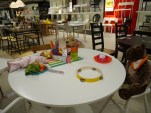 Day 10 - This bear & dog were having a blast at their tea party in the middle of IKEA.