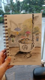 Day 116 - Journal sketch #3 - a rainy afternoon.
