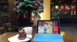 Day 125 - A Christmas study nook in Starbucks.