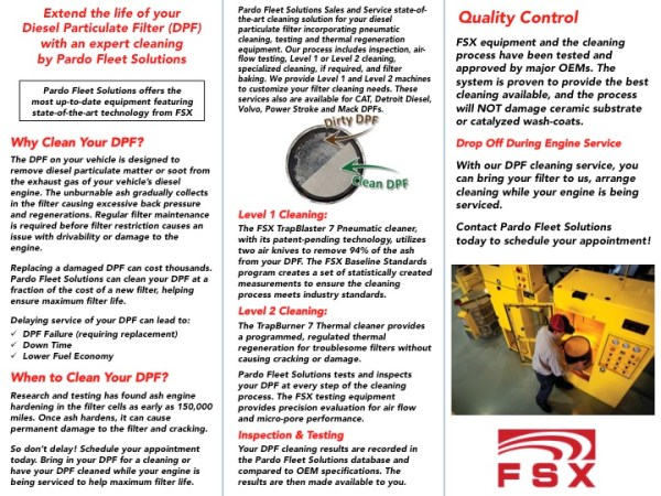 DPF Cleaning Services Page 1