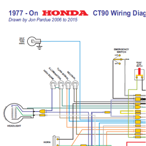 Honda CT90 Wiring Diagram 1977on All Systems  Home of