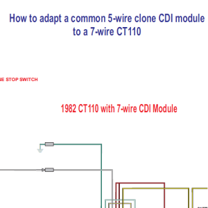 Honda CT110 5 Wire Clone CDI Module To a 7 Wire CT110  Home of the Pardue Brothers
