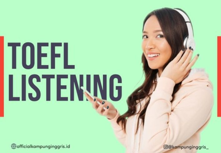 Program TOEFL Listening (only Rp200K) Photo by Officialkampunginggris.id