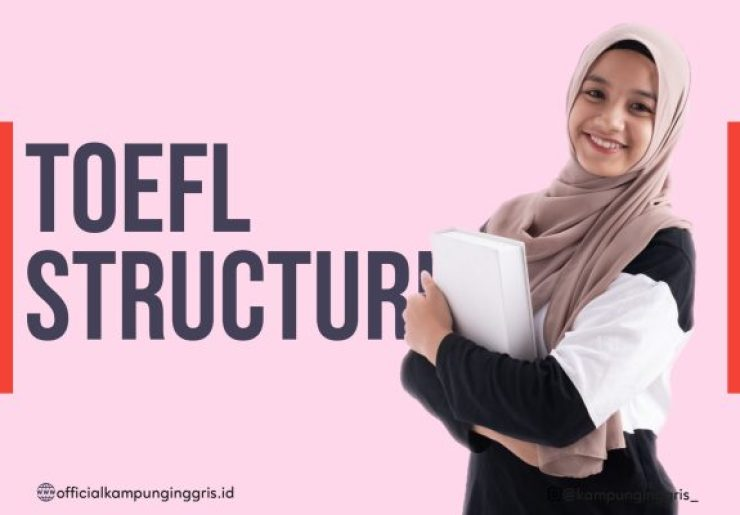 Program TOEFL Structure (only Rp200K) Photo by Officialkampunginggris.id