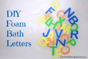 DIY Foam Bath Letters