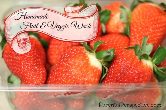 Homemade Fruit and Veggie Wash - Parental Perspective