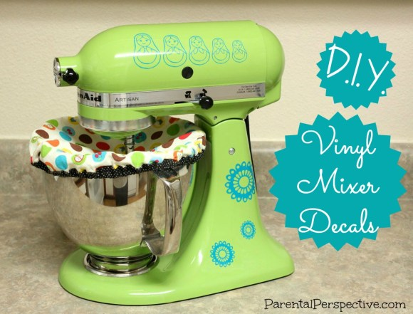 Instructions for creating vinyl decals for your mixer using a Silhouette | Parental Perspective