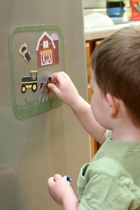DIY Magnetic Farm Playset Using Your Silhouette