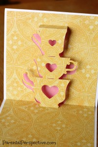 Stacked Teacups Thinking Of You Card