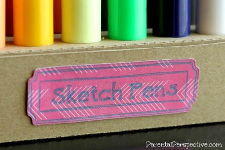 Silhouette Sketch Pen Holder | Parental Perspective