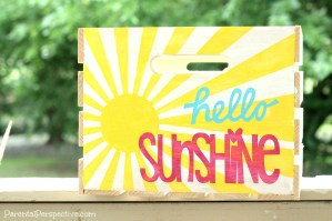 Stenciled Wooden Crate Tutorial