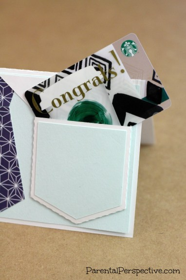 Congratulations Tie Card With Giftcard Pocket | Parental Perspective