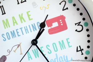 DIY Craft Room Clock
