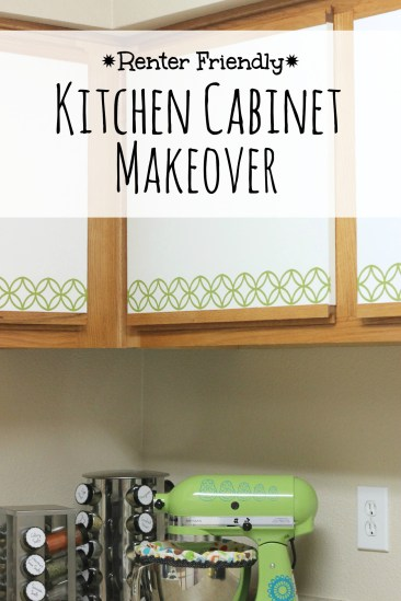 How to easily transform boring cabinets using your Silhouette and adhesive vinyl. Perfect for renters! | Parental Perspective