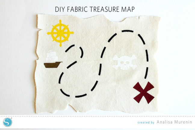 DIY Fabric Treasure Map | Silhouette Kids Craft