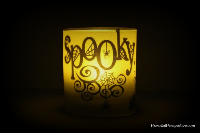 Step by step tutorial for creating a spooky candle just in time for Halloween