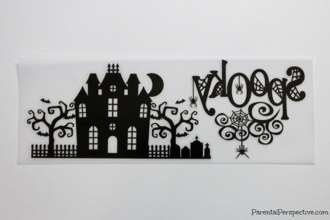 Create a Halloween candle with your Silhouette, vellum, and printable clear sticker paper.