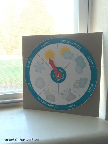 Weather chart learning activity created with the Silhouette Cameo
