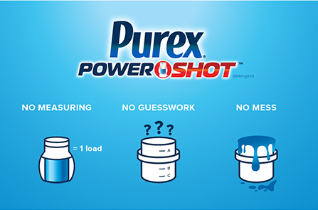 Win a coupon for a free bottle of Purex PowerShot laundry detergent