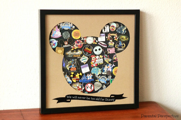 DIY Disney Pin Trading Display Case