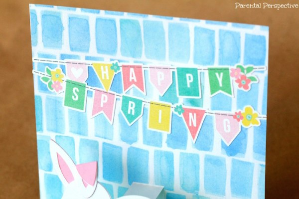 Spring Pop Up Bunny Card #silhouette