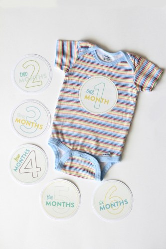 Make your own monthly onesie stickers for baby with your Silhouette CAMEO or Portrait!