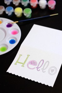 Tutorial: Simple Watercolor Notecard