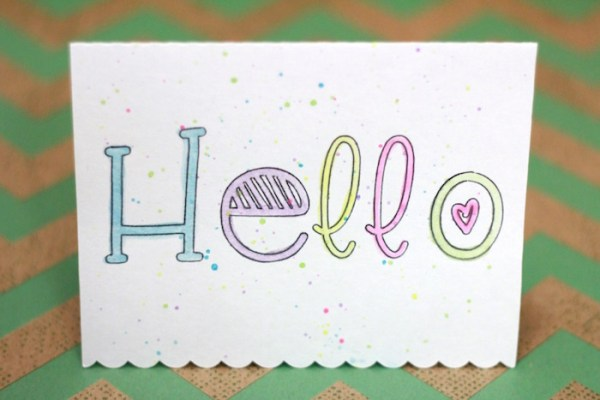 This tutorial walks you through every step of using Silhouette sketch pens to create a simple watercolor notecard. They're easy to make and sure to bring a smile to anyone's day!