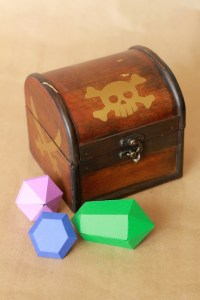 Treasure Chest With 3D Gems