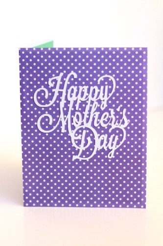 Mother's Day card created with the Silhouette CAMEO