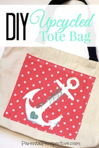 Are your boring canvas tote bags going unused? Upcycle them with this easy to follow tutorial! | ParentalPerspective.com