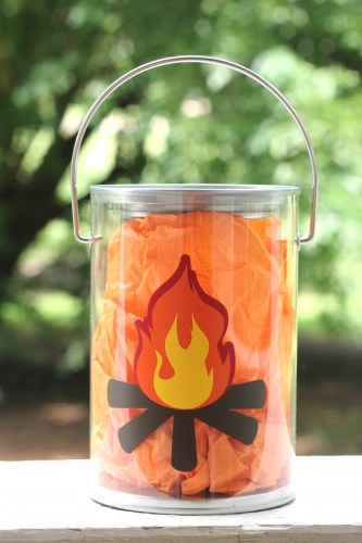 Kids Craft Tutorial: Campfire Lantern | Silhouette Project Round Up | Creative ideas for your CAMEO or Portrait